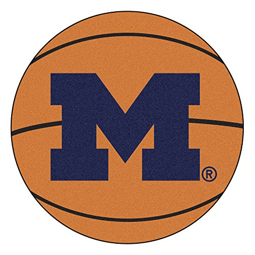 - NCAA University of Michigan Wolverines Basketball Shaped Mat Area Rug