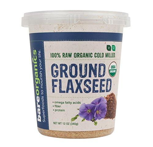 BareOrganics Cold Milled Ground Flaxseed, 12 Ounce by BareOrganics