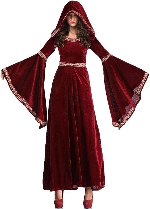 CAGYMJ Dress Party Mujer Vestido,Cosplay Medieval Aristocracia ...