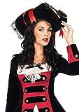 Leg Avenue Women's Swashbuckler Hat, Black/Red, One Size