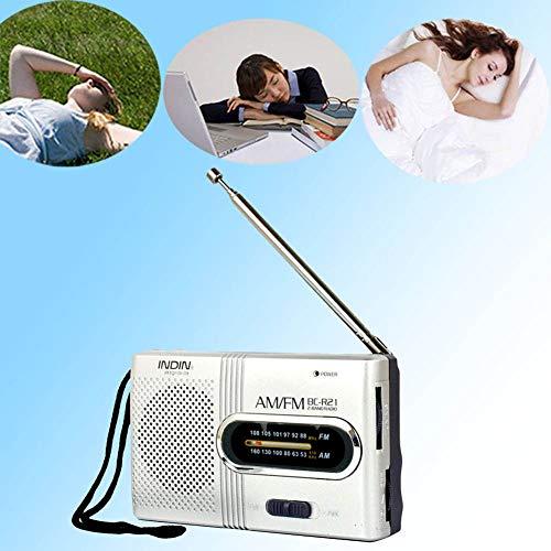 Mini Tragbarer BC-R21 FM//AM Radio Taschenradio Reiseradio Empfänger Lautsprecher