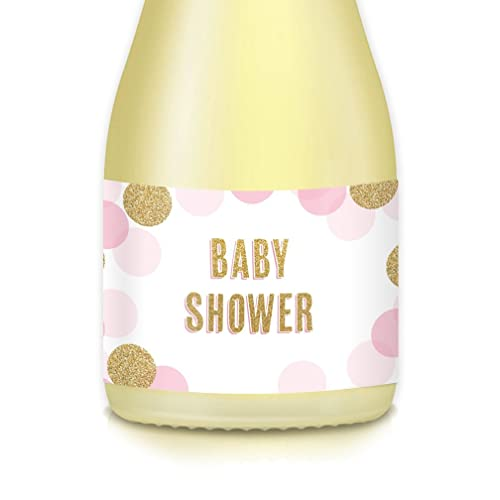 Baby Shower Mini Champagne Or Mini Wine Bottle Labels Baby Sprinkle With Love Little Girl 20 Count Pink Gold Bubbly 3 5 X 1 75 Stickers Celebrate