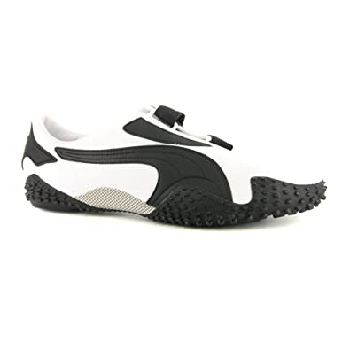 Mens Puma Mostro Leather White Black Trainers UK 11  Amazon.co.uk  Shoes    Bags 82d443bbb