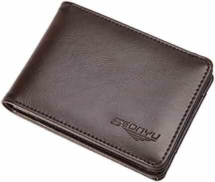 MICHOACAN Men Wallet Western Bifold Check Book W071-5 Brown