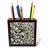 3dRose TDSwhite – Rock Photos - Rocks Pebbles - 5 inch Tile Pen Holder (ph_281928_1)