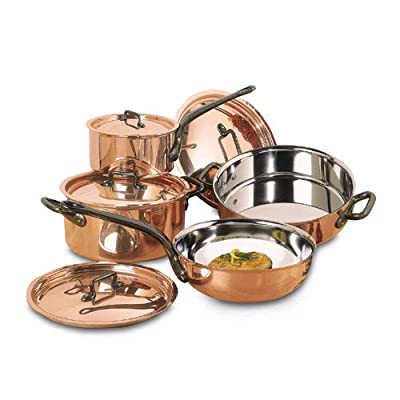 Matfer 915901 8 Piece Bourgeat Copper Cookware Set