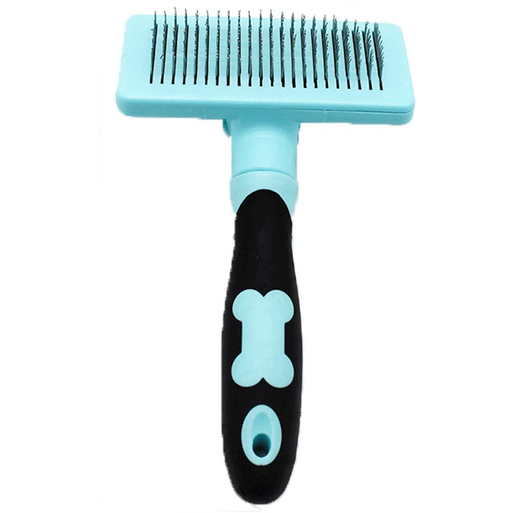 XIAOAN Dog Comb Pet Supplies Dog Hair Comb Special Needle Comb Pet Comb Large Dog Hair Brush Anti-Scratch Dog Supplies,Blue