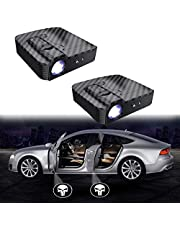 MIVISO Upgraded Car Door Led Logo Projector Light No Magnet Wireless Lamp Welcome Ghost Shadow Light 2PCS(Accept Custom Logo)