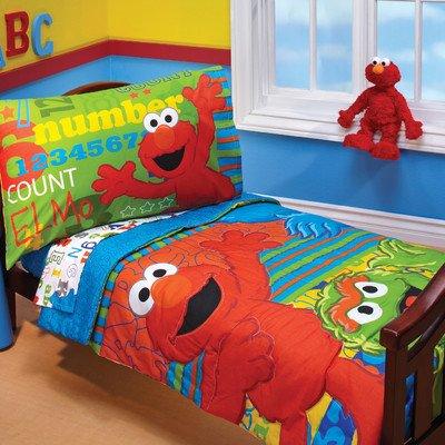 - ABC 123 4 Piece Toddler Bedding Set