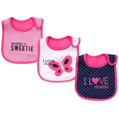 Carters 3 Pack Teething Bibs Pink