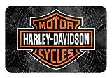 Harley-Davidson Vibes Bar & Shield Raschel Round Edge Rug, 20 x 30 Inch NW712157