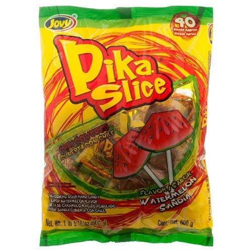 Jovy Pika Slike Watermelon Flavor Lollipop | 1 lb bag with 40 pieces]()