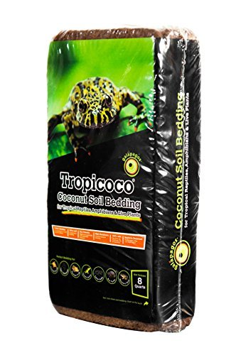 opicoco Coconut Soil Bedding, 8-Quart, Natural (Cypress Reptile Bedding)