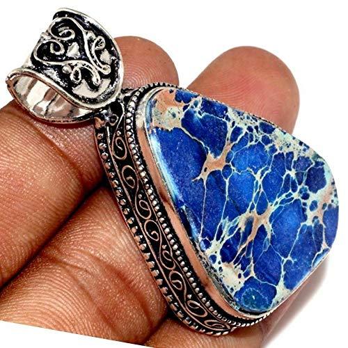 Handmade Variscite Jasper Gemstone 925 Sterling Silver Pendant - Variscite Jasper
