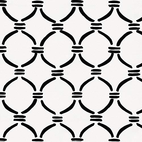 Carousel Designs Onyx Lattice Circles Fabric by the Yard - Organic 100% Cotton (Onyx Lattice)