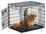 Ultima Pro (Professional Series & Most Durable MidWest Dog Crate) Extra-Strong Double Door Folding Metal Dog Crate w/Divider Panel, Floor Protecting Roller Feet & Leak-Proof Plastic Pan
