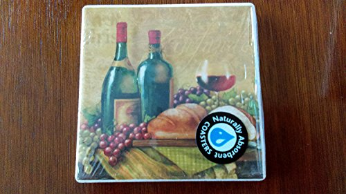 Zinfandel Naturally Absorbent Coasters (Set of 4)