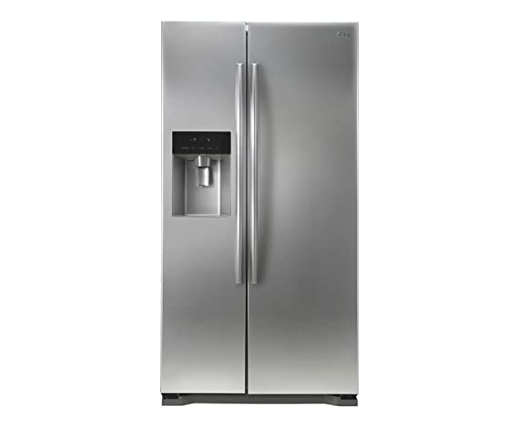 LG 567 L Frost Free Side-by-Side Refrigerator(GC-L207GLQV, Silver)
