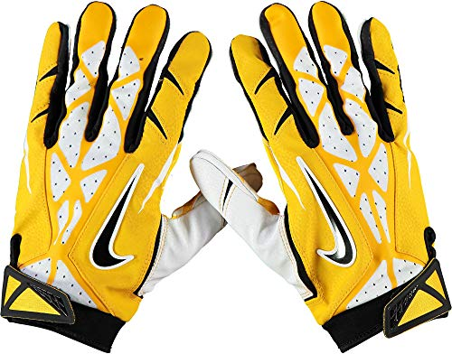 - West Virginia Mountaineers Team-Issued Gold Vapor Jet 2 Gloves from the Football Program - Size 2XL - Fanatics Authentic Certified