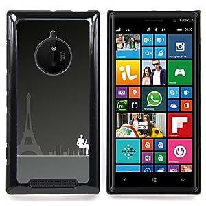 Eason Shop / Premium SLIM PC / Aliminium Casa Carcasa Funda Case Bandera Cover - París Cafe Art Torre Eiffel City Coffee Pintura - For Nokia Lumia 830