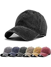 eee0585d2 Unisex Vintage Washed Distressed Baseball-Cap Twill Adjustable Dad-Hat