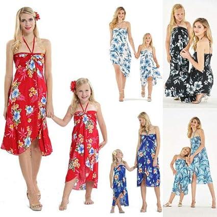 Vestiti Donna Eleganti da Spiaggia Loalirando Madre e Figlia Abiti Estivi Stampa Floreale Abiti Famiglia Senza Spalline Lunghi Vestito Principessa Bambina
