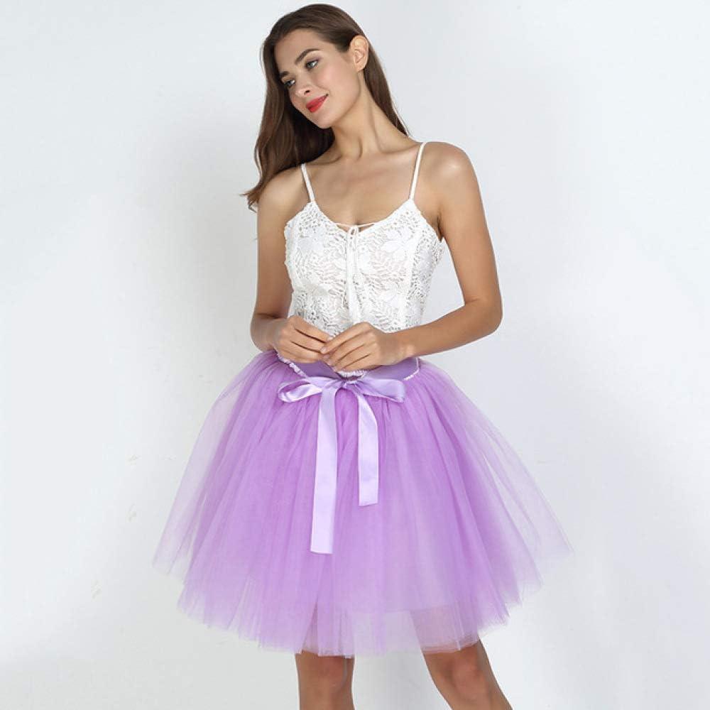 KLGDF Falda Faldas para Mujer 7 Capas Falda Midi de Tul Faldas de ...