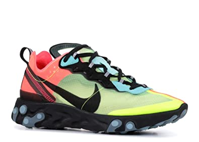differently 48a92 61889 Nike Men s React Element 87 Track   Field Shoes Multicolour (Volt Aurora  Green
