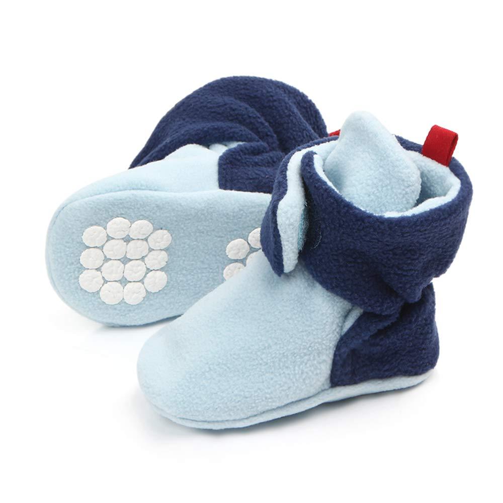 Unisex Toddler Anti-Skid Warm Baby Socks for 0-18 Months Newborn Baby Boys and Girls Non-Slip Baby Infants Cotton Socks 6-12 Months, Khaki TINGO Baby Socks