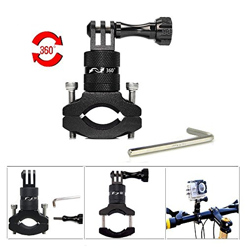 Bike Handlebar Mount Holder for GoPro Cameras - Seatpost Clamp for Bicycles & More -With 360 Degree Rotary Aluminum Alloy Bike Bracket Bicycle Mount Holder for GoPro HERO 6 5 4 Xiaoyi Sport Camera -