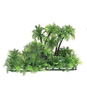 Soccik artificial, planta de árbol de coco, lifelike, plástico, bajo el agua