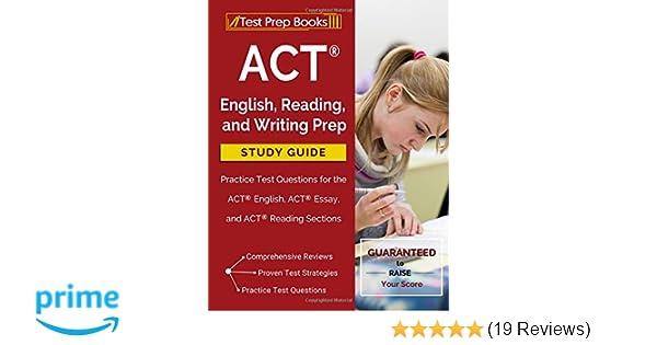Act Essay Prep Book - Act english reading and writing prep study