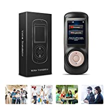 Voice Language Translator Device(Instant),Smart Two Way WiFi 2.4inch Touch Screen Portable Translation for Learning Travel Business Shopping-Black