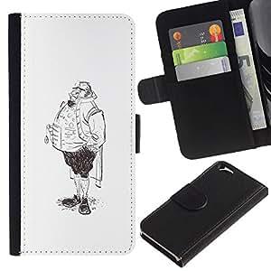 ZCell / Apple Iphone 6 / Aristocrat Legs Man Sketch Pencil Drawing Art / Caso Shell Armor Funda Case Cover Wallet / Aristocrat piernas hombre bo
