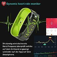 yamay Fitness Tracker, resistente al agua IP68 Fitness pulsera 0 ...
