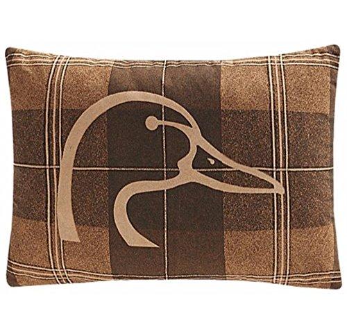 """Ducks Unlimited Plaid Oblong Pillow 14"""" x 20"""""""
