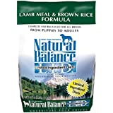 Natural Balance L.I.D. Limited Ingredient Diets Lamb Meal & Brown Rice Formula Dry Dog Food, 4.5-Pound
