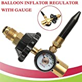 LoLa Ling 1pc Brass Helium Latex Balloon Inflator Regulator with Pressure Gauge for G5/8 Tank Valves 145135mm Pressure Reducer