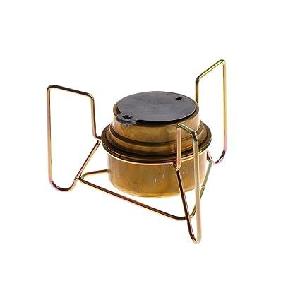 MagiDeal Mini Estufa Portátil con Estante de Soporte Pieza de Cocina para Acampar Aire Libre