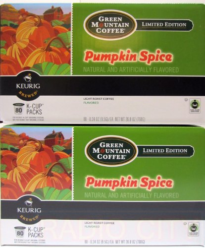 Pumpkin Spice 160 Count Keurig K-Cups - Green Mountain Coffee Fair Trade by Green Mountain Coffee