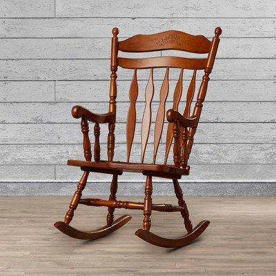 Greenwood Rocking Chair, Medium Oak Finish
