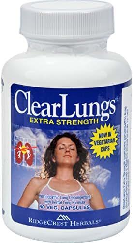 RidgeCrest Clearlungs Extra Strength Herbal Decongestant , 60 Vegetarian Capsules