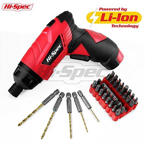 Power Screwdrivers (c. 3.6V 1300mAh Li-ion Twist Grip Screwdriver with 38 Piece Accessory (Grip Cordless Screwdriver)
