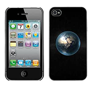 LECELL -- Funda protectora / Cubierta / Piel For Apple iPhone 4 / 4S -- Space Planet Minimalist Bubble --