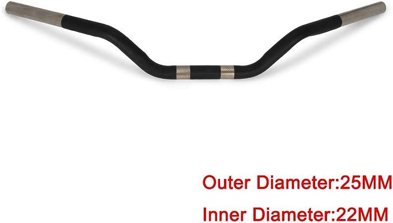 """Straight Handlebars Broomstick 1/"""" chrome drag bars chopper brat handlebar"""