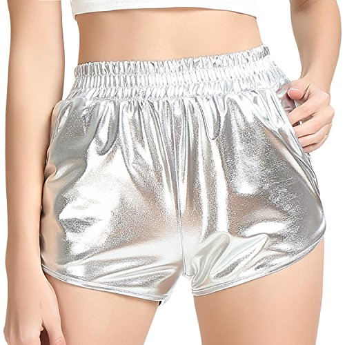 Metallic Shorts Hot Sparkly Pants for Women