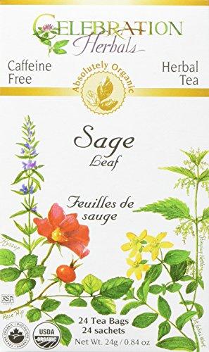 CELEBRATION HERBALS Sage Leaf Organic 24 Bag, 0.02 Pound