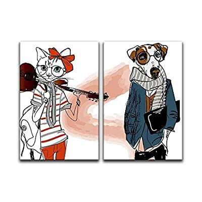 Aristocats and Dogs - Canvas Art