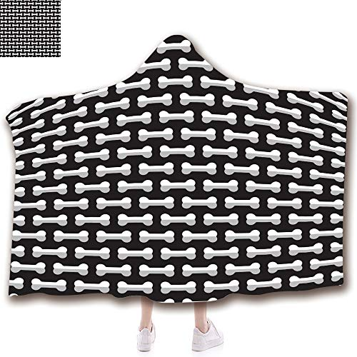 3D Printed Hooded Blanket Fashion Thick Warm Flannel