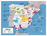 Wine Folly Spain Wine Map Poster Print, 12'' x 16''